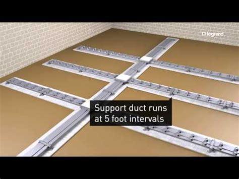 walkerduct underfloor duct legrand