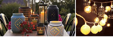 outdoor lighting string lights and lanterns crate and
