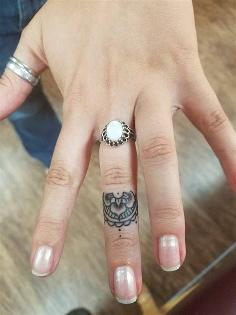 mandala finger tattoo tattoo tattoos finger
