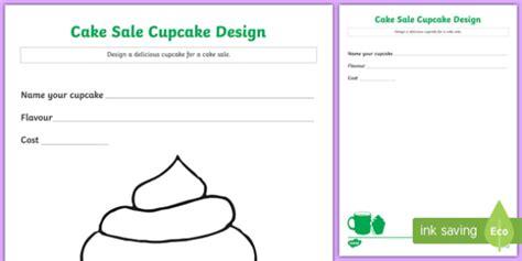 cake sale cupcake design worksheet activity sheet worksheet