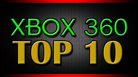 Official Top 10 Xbox 360 Games For 2012 Youtube