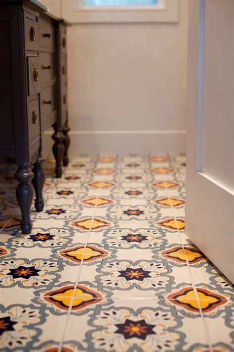 Bathroom Tile Flooring Ideas For Small Bathrooms by Before After Megan S Modern Mexican Tile Small