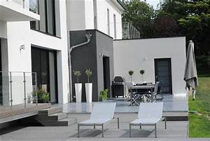 amenagement exterieur maison jardin moderne of amenagement With amenagement exterieur maison moderne
