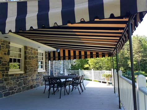 fixed awning installed   stone home kreiders canvas service