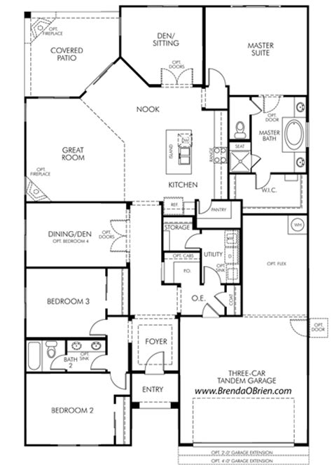 meritage homes floor plans az meratige rancho vistoso floor plan eldorado model