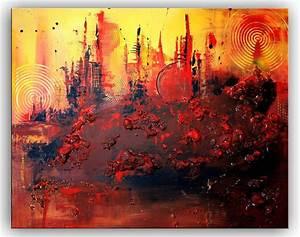 Abstrakte Bilder Leinwand : burgstaller abstrakte malerei acryl bilder gem lde leinwand rot struktur 80x100 ebay ~ Sanjose-hotels-ca.com Haus und Dekorationen