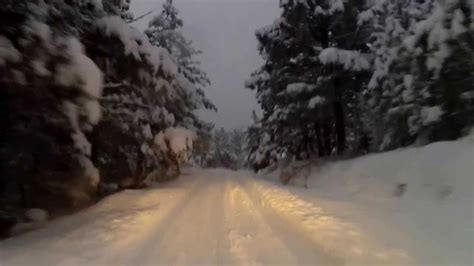 forester night drive  deep snow youtube