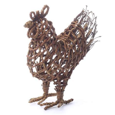 Rustic Grapevine Rooster  Decorative Accents  Primitive