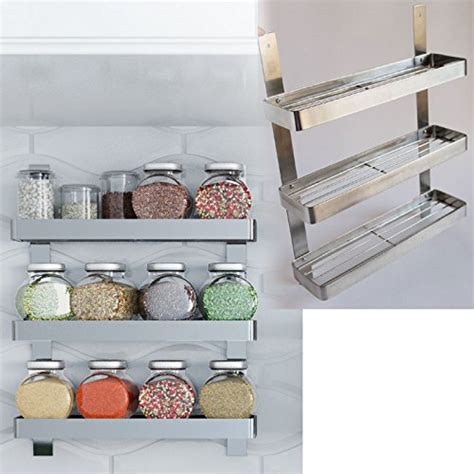 wall mounted kitchen storage rack stainless steel kitchen spice shelf rack kitchen organizer 8880