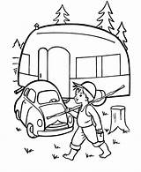 Camping Camper Coloring Pages Printable Caravan Printables Sheets Rv Embroidery Cars Trailer Goin Fishin Sheet Adult Theme Preschool Colouring Kleurplaten sketch template