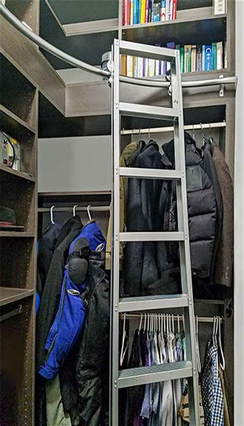 corner closet  closet ladder increases usable storage