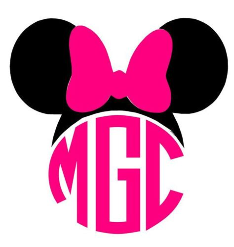 minnie mouse monogram mickey mouse cut files for silhouette cameo studio