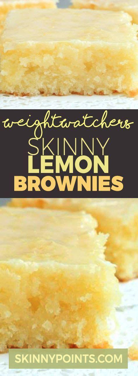 skinny lemon brownies lemon bars recipe weight