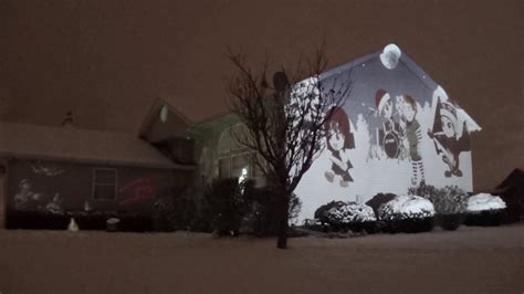 merry christmas projection merry everybody projection mapping