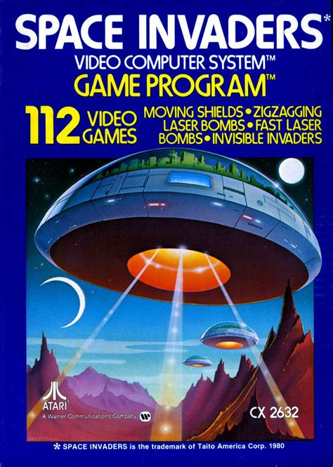 Space Invaders Atari 2600 Home Video Game System1980