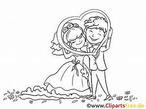 Dessin Couple Mariage Couleur : coloriage gratuite couple mariage illustration mariage ~ Melissatoandfro.com Idées de Décoration