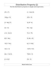 multiplication using distributive property worksheets