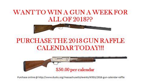 gun raffle calendars mass ducks unlimited facebook