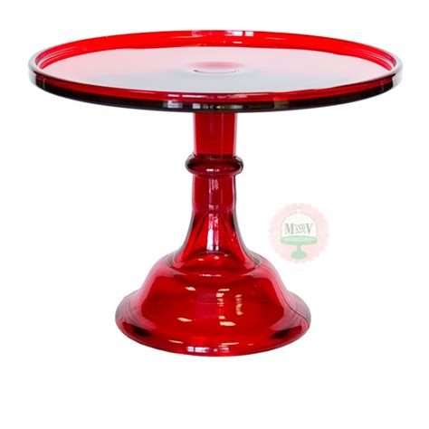 "10"" Candy Apple Red Classic Cake Stand  Cake Stands"