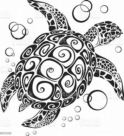 Turtle Silhouette Vector Animal Illustration Bubble Generated