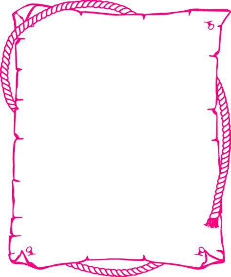 pink rope border clip art  clkercom vector clip art