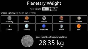 Weight of the Planets (page 2) - Pics about space