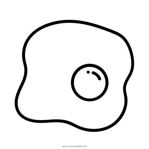 Coloring Fried Eggs by Fried Egg Coloring Page Ultra Coloring Pages