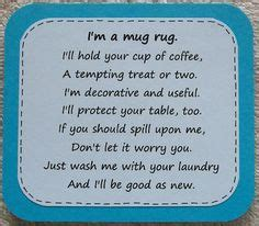 mug rug poem google search mug rug patterns mug rugs