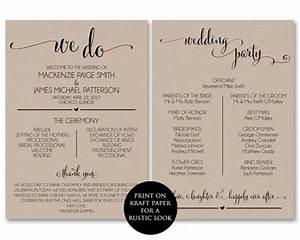 wedding program template wedding program printable we do With programs for wedding ceremony template
