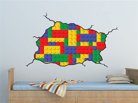 Lego Bedroom Wall Decals by Lego Style Wall Decal On Luulla