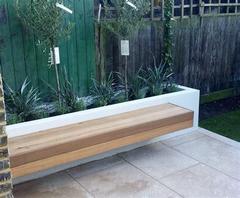 limestone patio pictures grey limestone patio paving raised beds floating hardwood bench clapham london london garden