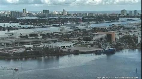 Live Cruise Ship Video Streaming HD Camera Port Of Miami In Florida