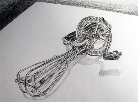 Object Drawing Kitchen Utensil Medium Pencil Paper