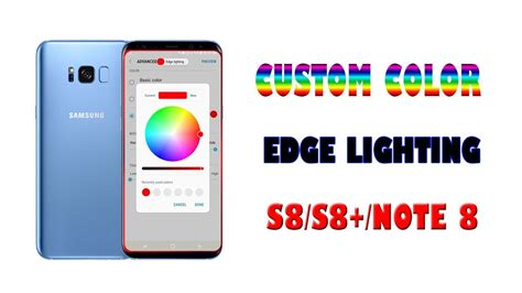note 8 edge lighting edge lighting custom color note 8 youtube
