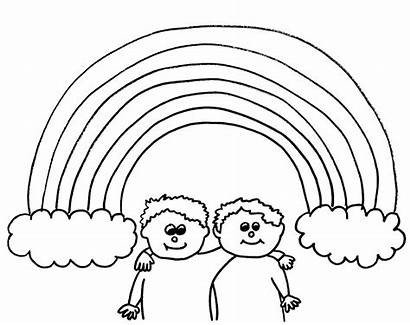 Coloring Pages Rainbows Rainbow Printable