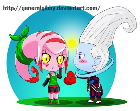 majin green x whis by generalgibby on deviantart