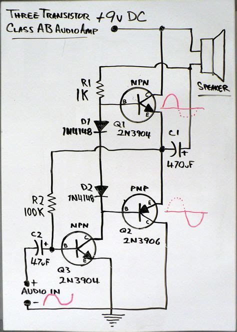 Class Amp Schematic Circuits Audio