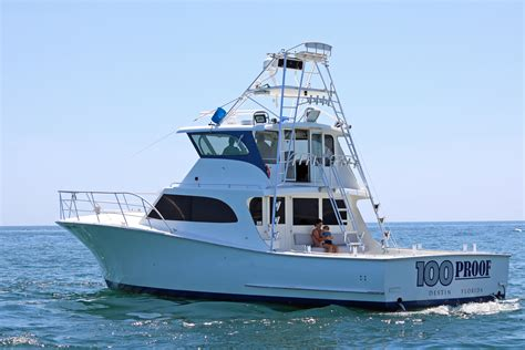 Destin Boat Charter by Destin Charter Boat 100 Proof Charters