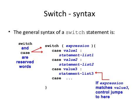 control statements  java switch case  loop