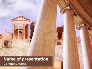 Ruins of ancient greek temple powerpoint template for Ancient greece powerpoint template