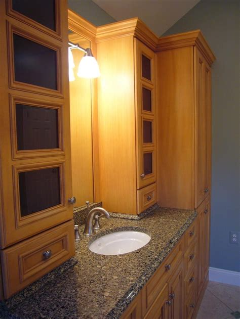 ideas  custom bathroom cabinets  pinterest