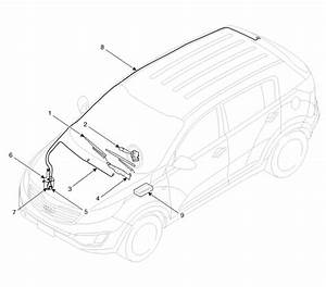 Kia Sportage  Components And Components Location