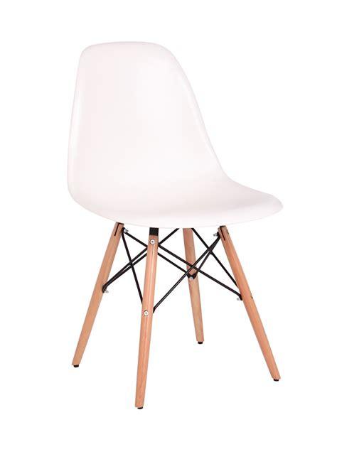 bois de la chaise chaise design bois pvc coloris blanc lot de 2 luberon