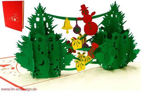 pop   karte weihnachtskarte  klappkarte