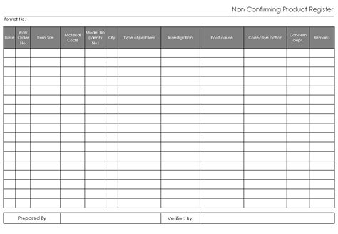 conforming product register