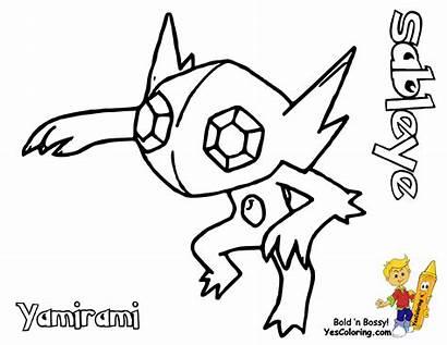 Pokemon Sableye Coloring Electivire Slaking Wailord Yescoloring