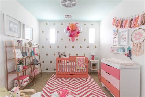Pink, White And Grey Nursery For A Baby Girl