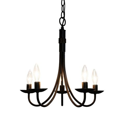 shop artcraft lighting pot racks 5 light black chandelier