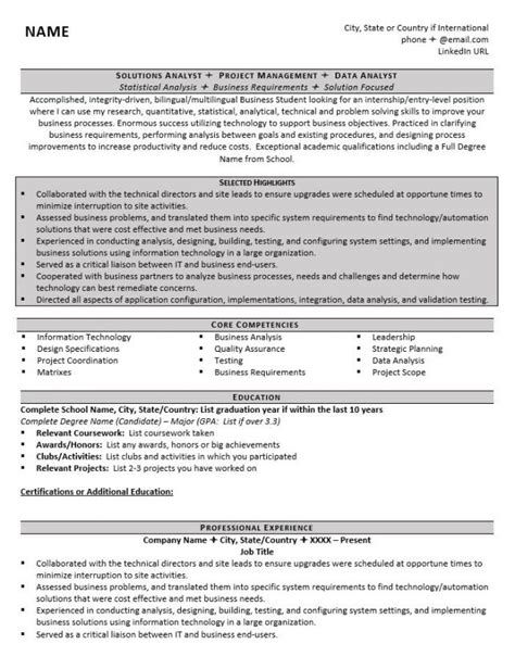 graduate school resume how to write a graduate school resume exles and tips