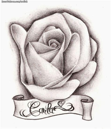 Dibujos De Lapiz Rosas